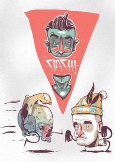 stickers #1 by Michal Bogulski, via Behance