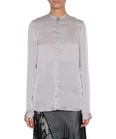 HAIDER ACKERMANN Silk Satin Shirt. #haiderackermann #cloth #shirt
