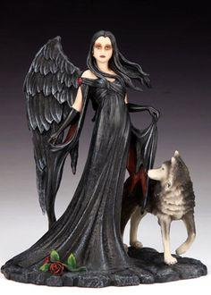 Feronia - Gothic Fairy and Wolf Figurine