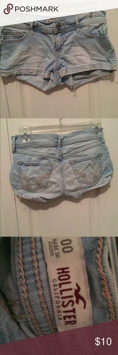 Light wash hollister jean shorts. Decent condition but still in good shape. Hollister Shorts Jean Shorts