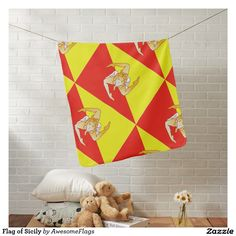 Flag of Sicily Receiving Blankets