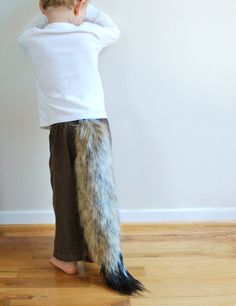 Costume Fox Tail - Cinnamon with Black Tip