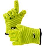 #7: AYL Silicone Cooking Gloves  Heat Resistant Oven Mitt for Grilling BBQ Kitchen  Safe Handling of Pots and Pans  Cooking & Baking Non-Slip Potholders  Internal Protective Cotton Layer