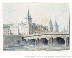 Vue du Pont au Change et du Palais de Justice  L. Gd, c.1700