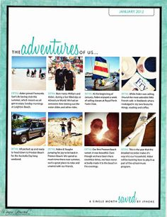 The Adventures of Us, Instagram Layout January 2012 - Cathy Zielske No.89 Template