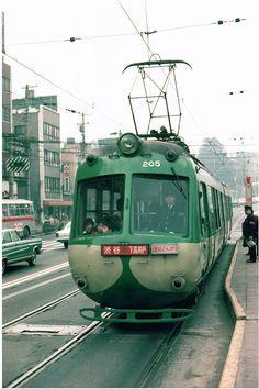 Tokyo tram, #Tokyo 1969 #Japan #cities