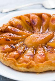 Перевернутый пирог с карамельными грушами