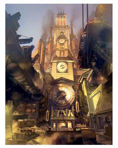 Bioshock Infinite concept art by Ben Lo || theconceptartblog.com