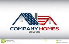 American Houses Logo Business Card Stock Vector - Illustration of election, icon: 91815813 Online Marketing Companies, Marketing Program, Internet Marketing, Business Card Stock, Business Cards, Free Vector Files, Vector Free, American Houses, American Flag