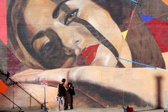 Ruby - Collaborative mural with Poesia - San Francisco, CA  - by Kamea Hadar