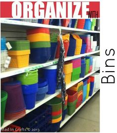MAD IN CRAFTS: Organize Your Whole House with One Trip to the Dollar Store; some great ideas with links
