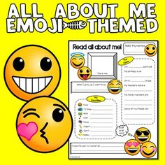 ALL ABOUT ME EMOJI THEME by Jewel Pastor | This 'All About Me Sheet' is an emoji-themed get-to-know-me sheet that can be handy during the first week of a new school year. It will not only allow you to get to know your students better, it will also look great on your bulletin boards and can be used during back to school night. It can still be useful when you get new students in the middle of the year. | emoji | emoji theme | emoji theme activities