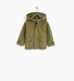 Image 1 of LIGHTWEIGHT HOODED PARKA from Zara