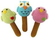 Bird Rattle Trio Set Made with organic bamboo yarn.