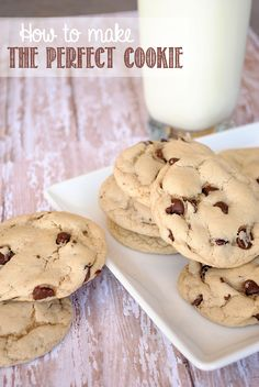 How to Make the Perfect Cookie {by Crazy Little Projects}