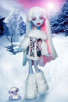 Monster High Doll: Abbey Bominable (Daughter of the Yeti) She loves these crazy dolls! Monster Dolls, Love Monster, Barbie 80s, Ever After High, Monster High Characters, Cartoon Characters, Vampires, Monster High Abbey, Personajes Monster High