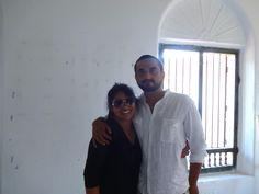 Our founder Kavita with Sanjeev Thomas.