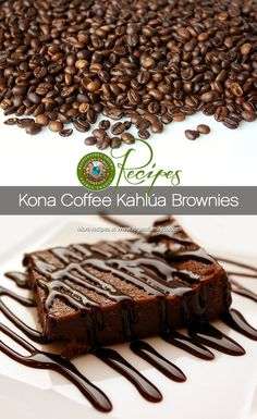 Rich, bold & sweet, these Kona Coffee Kahlua Brownies give you just the right amount of bite.   http://www.rogersfamilyco.com/index.php/recipe-of-the-week-kona-coffee-kahlua-brownies/