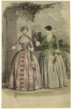 1849 Godey'S Paris Fashions Americanised. From New York Public Library Digital Collections.