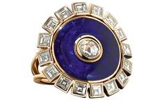 Solange Azagury-Partridge Duchess Ring with diamonds and enamel...