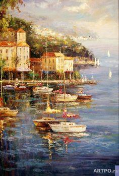 Лодки(Летнее утро) - Минаев Сергей