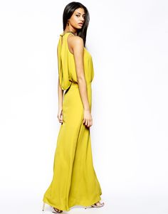 maxi dress in yellow/olive color