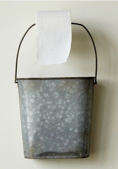 Toilet Paper Holder, Wall Mounted Bucket, Magazine Holder