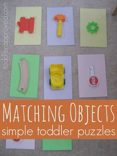 Matching Objects - easy homemade puzzles