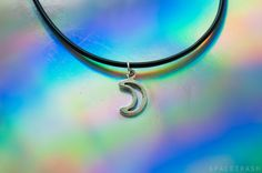 Crescent Moon Choker by shopspacetrash on Etsy
