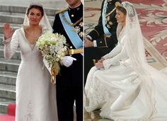 Letizia, Princess of Asturias Letizia, Princess of Asturias wore a gown by Spaniard Manuel Pertegaz