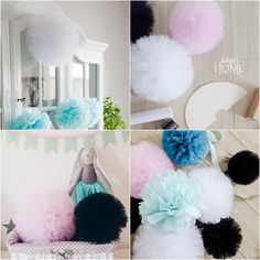 simply about home: Pompony tiulowe DIY