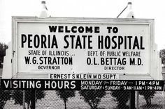 Welcome to Peoria State Hospital