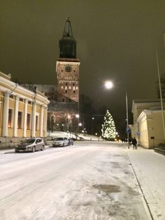Home town Cathedral getting ready for Christmas, Turku / Åbo, Finland