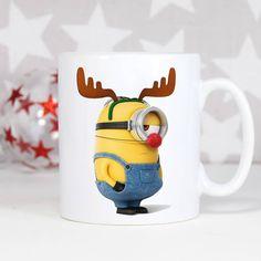 Minionkowy Rudolf! #cup #mug #kubek #minions #minionki #święta #prezent