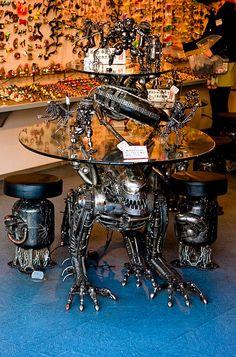 Alien table and stools, Takayama   by camwheeler