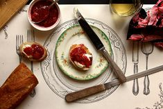 strawberry raspberry quick jam by joy the baker, via Flickr
