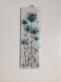 Kiln fused glass wall panel hanging #fusedglass #artglass #glassart www.firedcreations.co.uk