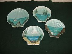 Hand painted scallop shells
