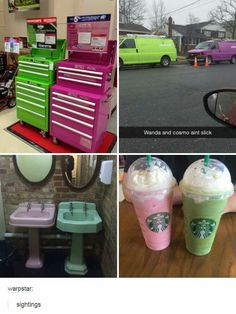 Very inconspicuous Wanda and Cosmo...