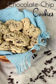 This is the perfect chocolate chip cookie ~ Crispy on the outside and chewy on the inside!!  Chocolate chip cookies are always a go-to favorite dessert, sweet snack, after-school treat or just-because goodie I like to have on hand