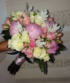 Wedding Bouquet For The Happiest Day Of Their Life! Love Flowers, White Flowers, Summer Wedding, Wedding Day, Happy Day, Pink Color, Flower Art, Peonies, Wedding Bouquets