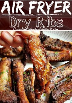 These Pork Ribs are a family favorite in our house. And making them in the Air Fryer is our favorite way to have them! This dry rub recipes is easy to make and is 100% keto. #keto #dryrub #ribs #pork #airfryer