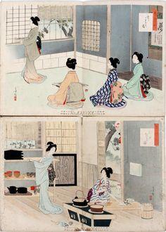 TOSHIKATA, WOODBLOCK PRINTS, BEAUTIES.