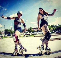 Skating brings us all together. Original  @michelehale with @chicksinbowls. #rollerskate #rollerderby #shred #skateordie by fasterskates