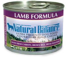 Natural Balance Ultra Premium Lamb Canned Dog Formula, Case of 12 Cans/6 Oz ** Check this awesome product by going to the link at the image.