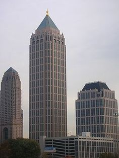 Atlanta's Tallest Buildings: One Atlantic Center located at 1201 W. Peachtree St. is 820 feet tall with 50 floors.