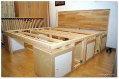 hochbett aus konstruktionsholz bauanleitung zum selber bauen bauen pinterest hochbetten. Black Bedroom Furniture Sets. Home Design Ideas