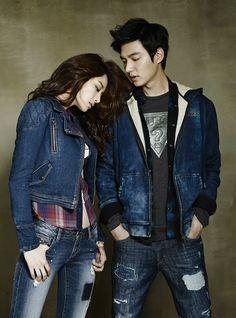 Tercera lotes de Lee Min Ho De GUESS JEANS F / 2 2014 Anuncios   Couch Kimchi
