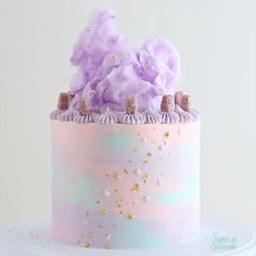 Photo credit: Sleep Vitamins Inspired Cake 539 Source by Cake Decorating Videos, Birthday Cake Decorating, Cake Decorating Techniques, Simple Cake Decorating, Pastel Cakes, Colorful Cakes, Pink Cakes, Pretty Cakes, Cute Cakes