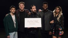 [OFFICIAL VIDEO] Imagine - Pentatonix - YouTube PLEEEEASE WATCH IT OMG I WANNA CRY 😭😭😭💖💖💖 I'm so happy that they've chosen to cover a song like this- imaging if nothing tore us apart. I personally am religious, but that doesn't mean I have put a barrier between me and the rest of society. I am still H-U-M-A-N. ❤️